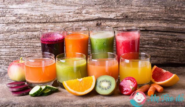 nước uống giảm cân sau sinh từ hoa quả